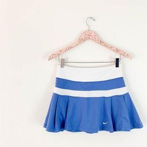 Nike Pleated Tennis Skirt Small Blue White Stripe